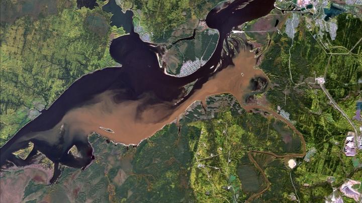 Ученый опубликовал фото со спутника, как шахтные воды загрязняют реку Яйву