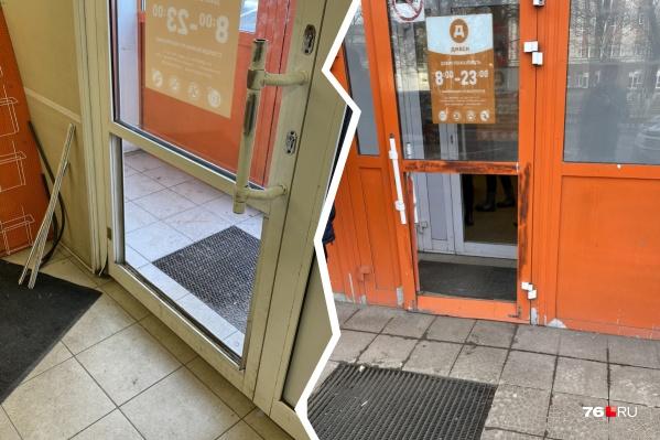 Двери взломали очень легко