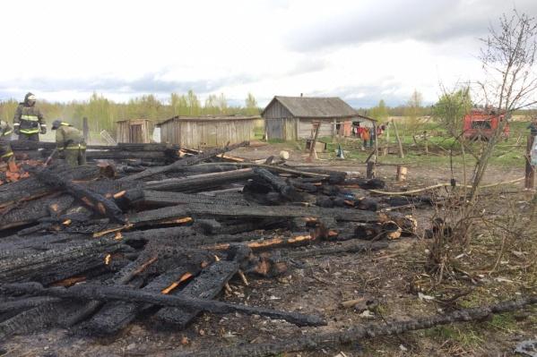 Дом выгорел до самого основания