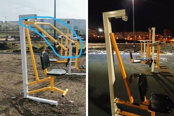 Конструкции установили в парке полтора месяца назад