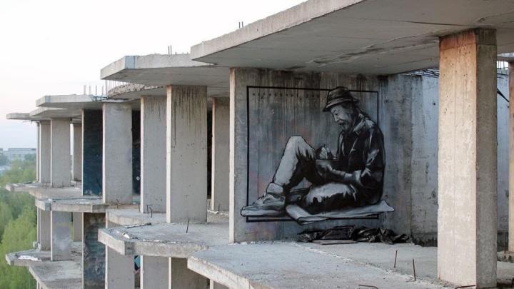 «Нерабочие дни»: нижегородский художник Никита Nomerz показал новое граффити на тему самоизоляции