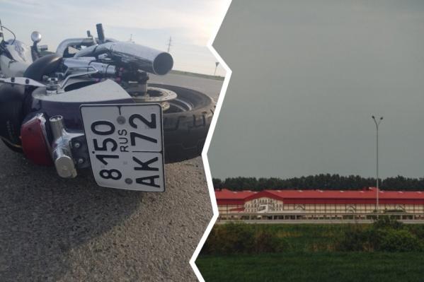 После аварии мотоциклиста доставили в ОКБ № 2