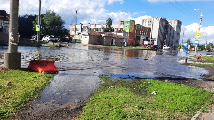 После ливня в Архангельске оказались затоплено несколько улиц