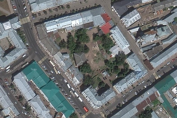Так выглядит участок на спутниковых снимках