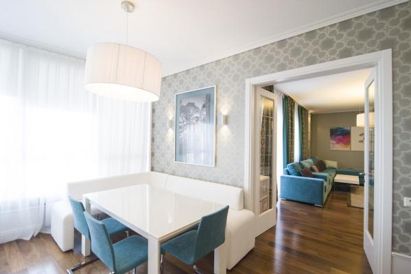 Общая площадь квартиры — 134 квадратных метра