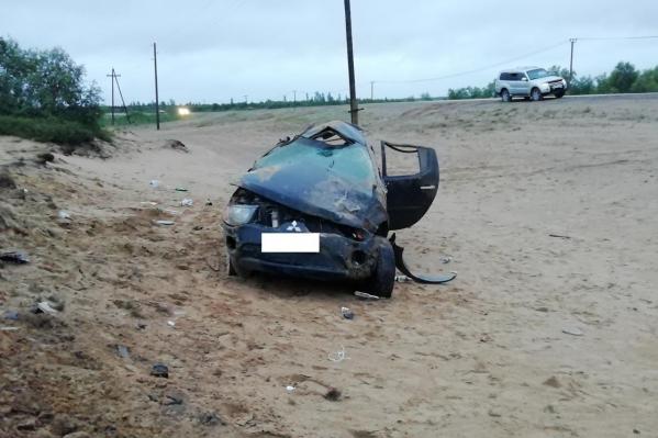 В ДТП погибли пьяная женщина-водитель и её пассажирка