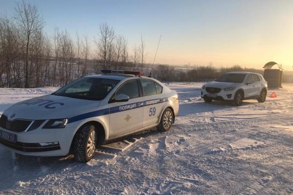Машину заметили инспекторы ГИБДД, патрулирующие территорию