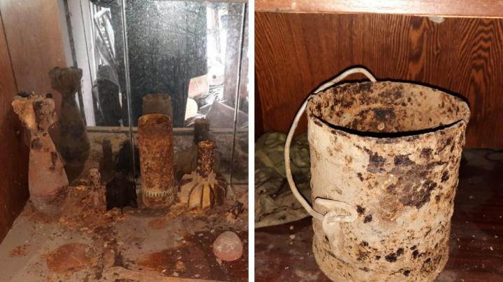 В центре Архангельска обнаружили боеприпасы времён начала XX века