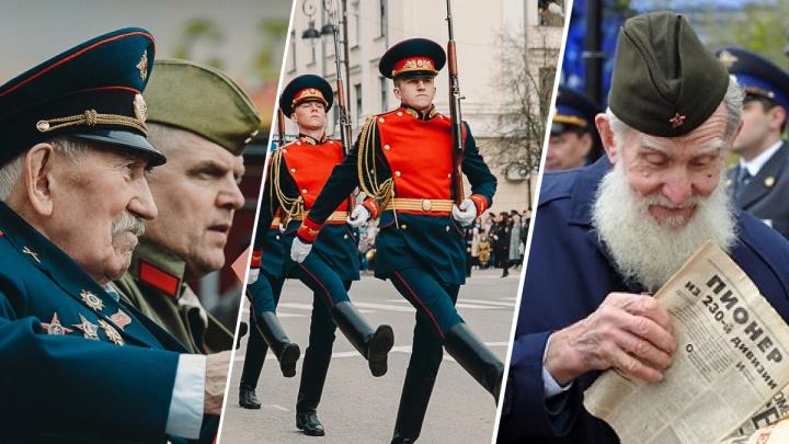 Как это было: вспоминаем парады и шествия «Бессмертного полка» в Тюмени за последние 10 лет