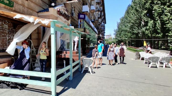 В Волгограде из-за нарушения коронавирусных требований оштрафовали известное кафе «На Аллее»
