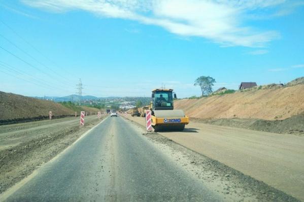 Сейчас на участке дороги уже идет ремонт