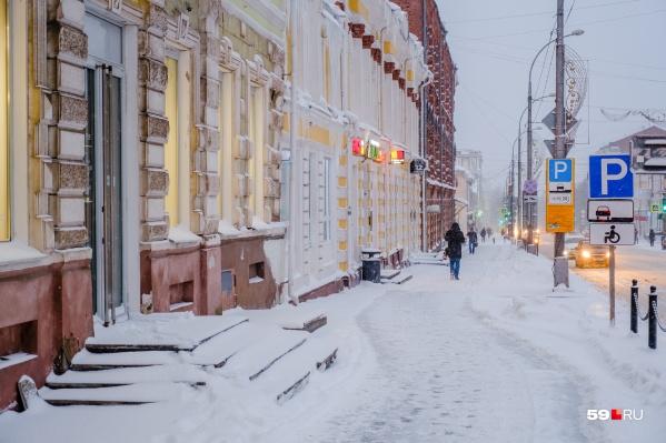 Пермякам напоминают о повышенной внимательности во время снегопадов