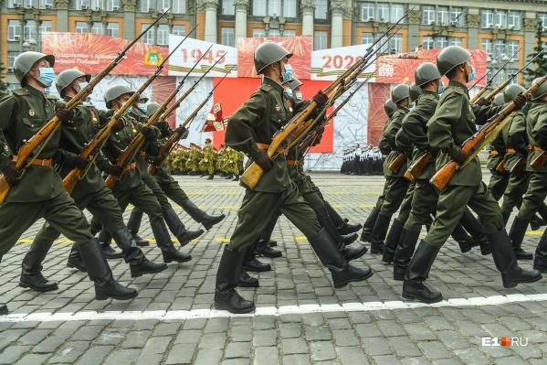 В Екатеринбурге генеральной репетицией завершились приготовления к параду Победы — 2020