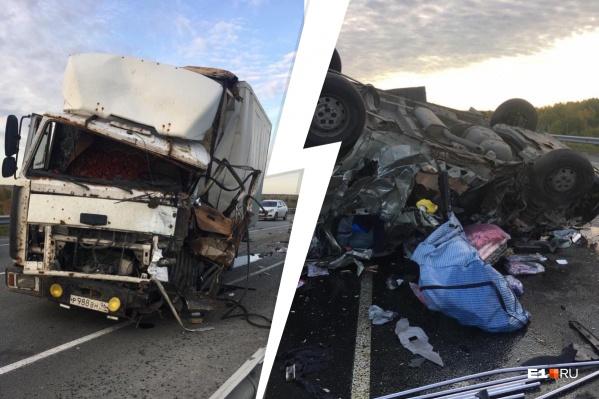 Водитель грузовика уснул за рулем и выехал на встречку