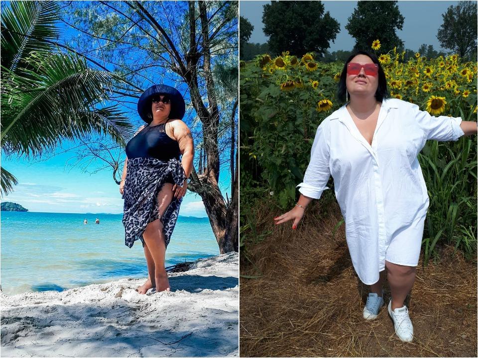 Ника поделилась с нами своими пляжными фотографиями, чтобы вдохновить женщин с пышными формами не стесняться