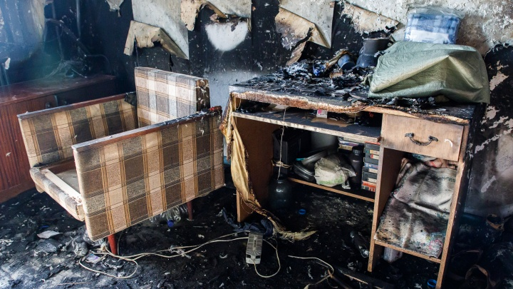 В Михайловском районе многодетная семья осталась без крова из-за детской шалости
