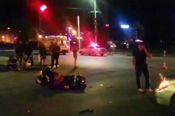 Водитель мотоцикла скончался на месте