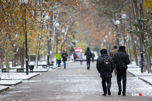 В Ростов пришла настоящая зима
