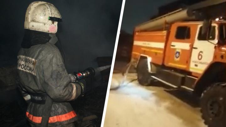 На Станционной загорелся цех — пожарные работают на месте уже 7 часов