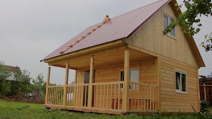 Как построить дом осенью за 329000рублей