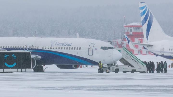 Из-за снегопада в Красноярске были задержаны все утренние рейсы
