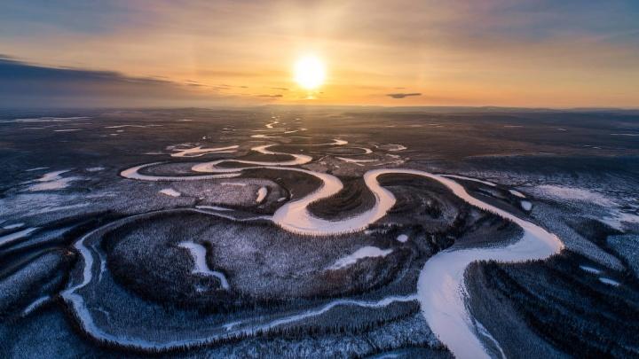 Новосибирский фотограф полетал над Эвенкией и сделал потрясающие снимки красноярского Севера