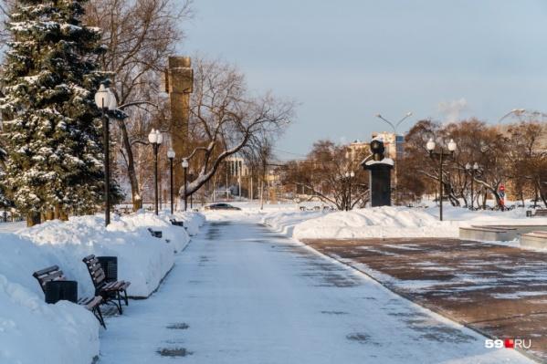 В Перми в этом сезоне дефицит снега