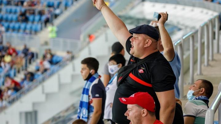 В Волгограде на матче «Ротора» и «Спартака» собрались больше 18 тысяч болельщиков