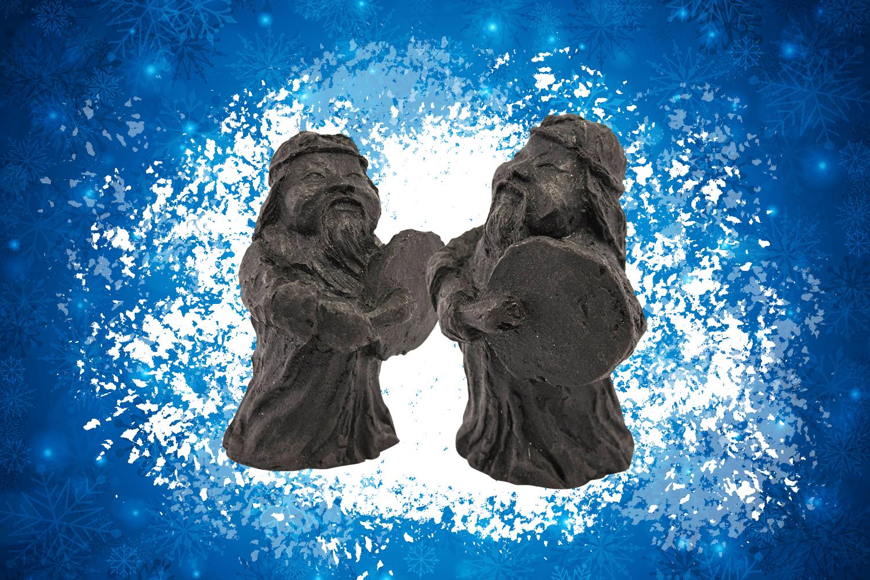Автор скульптуры из угля — Игорь Суворов. Автор снимка — Владимир Фролов