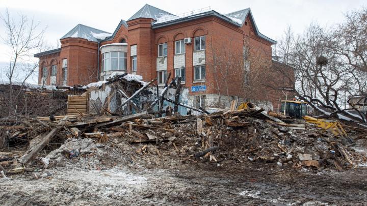 В центре Челябинска снесли особняк XIX века