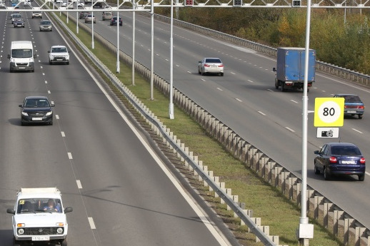 На участке дороги Уфа — Аэропорт снижен скоростной режим