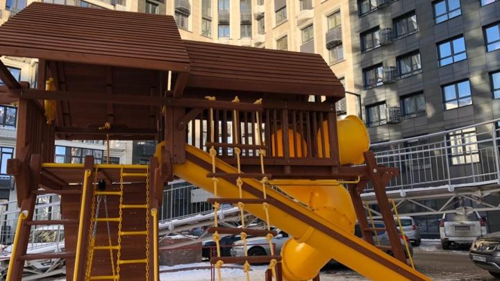 Территория счастливого детства: в Уфе построили современную детскую площадку из экологически чистых материалов