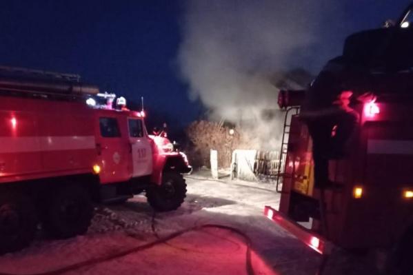 Пожар произошел сегодня рано утром в Чулымском районе