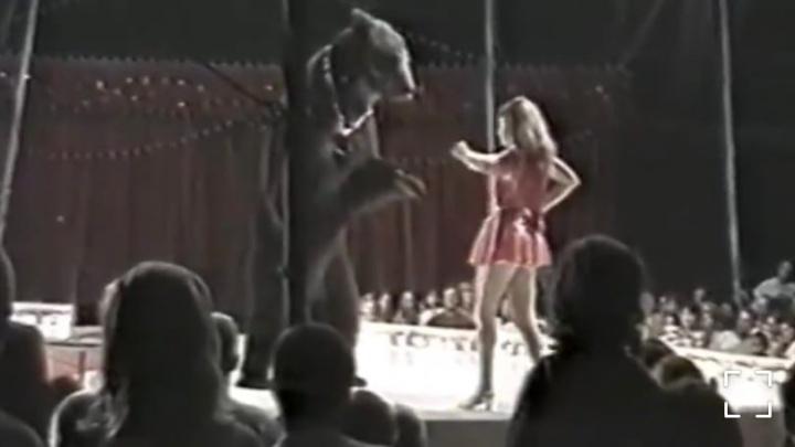 Новый хозяин медведя, которого исхудалым нашли в лесу Башкирии, опубликовал его цирковое выступление