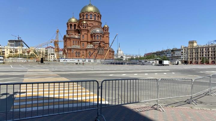 Центр Волгограда три раза за неделю закроют из-за репетиций перенесенного парада Победы