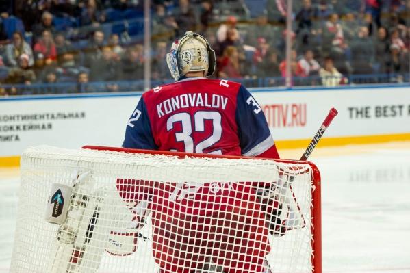 Илья Коновалов надёжно защищал ворота «железнодорожников»