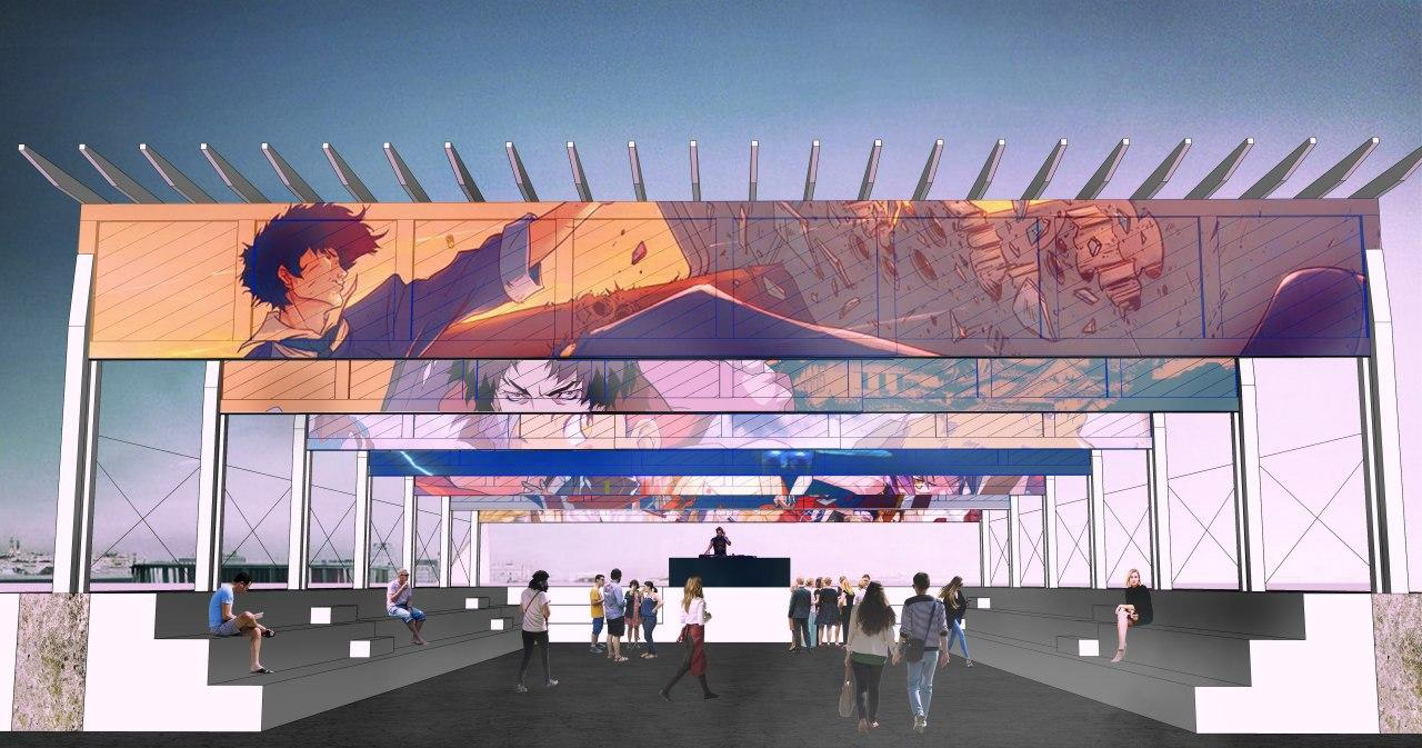 Примерно так будет выглядеть сцена-амфитеатр на Горнозаводской площади