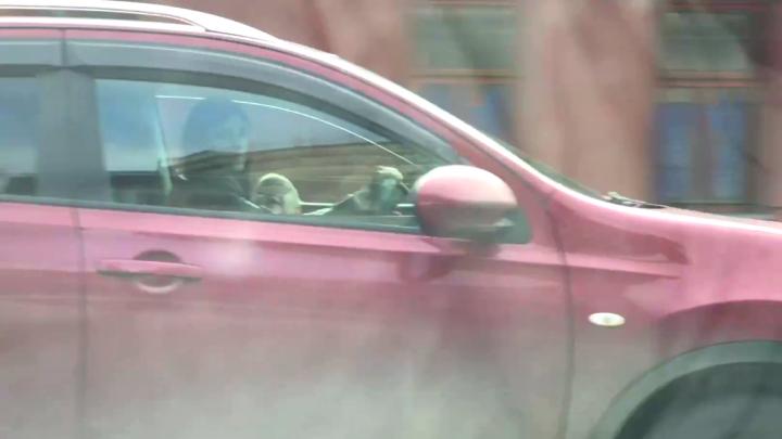 «Ребёнка об руль переломает!»: многодетный отец показал, как женщина вела машину с младенцем на руках