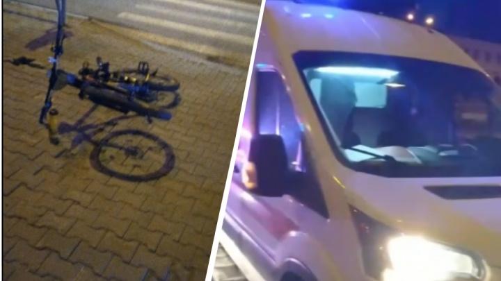 Во Втузгородке велосипедист попал под колёса машины, его увезла реанимация