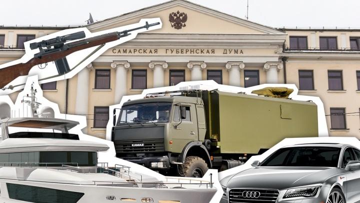 Снайперская винтовка, автобусы и теплоход: депутаты Самарской губдумы раскрыли доходы