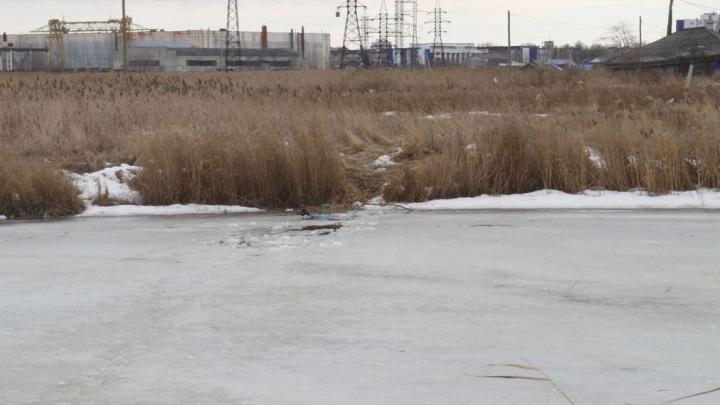 В Кургане пожилой мужчина провалился под лёд на реке Чёрной