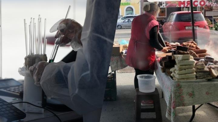 Санврачи проверят рынок в Березовском, где колбасу мыли тряпками