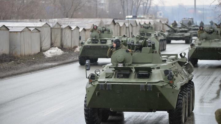 В Екатеринбурге пройдет первая репетиция парада Победы: публикуем схему перекрытий