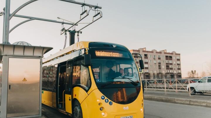Электробус сняли с маршрута Самара — Южный город