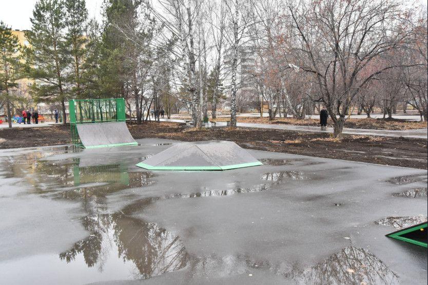В сквере «Юбилейный» появился свой скейт-парк