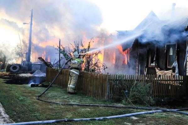 Пожар произошел в деревне Передергина