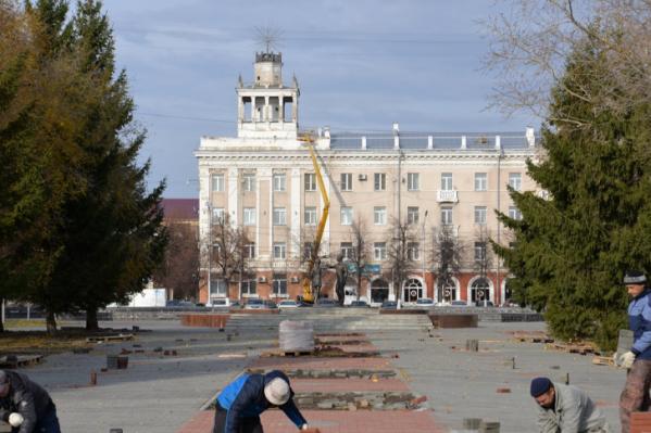 Ремонтные работы в городском саду начались в середине сентября