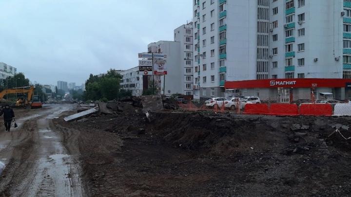 Жители Уфы из-за ремонта дороги не могут попасть домой