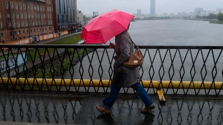 Синоптики пообещали сильные дожди и град в Свердловской области