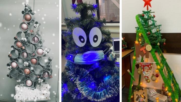 Елки из труб, кирпичей и изящных туфелек: голосуйте за главный новогодний креатив